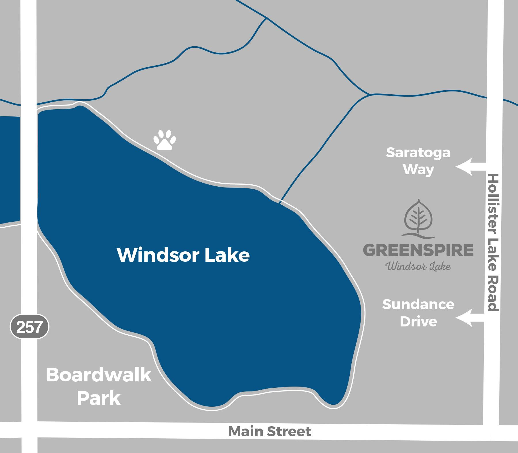 Map - GreenSpire Windsor Lake